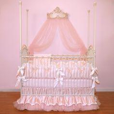 Bedding Ensembles | ... pugred11 Soft Pink Luxury Posh Baby Nursery 4-Piece Crib Bedding Set
