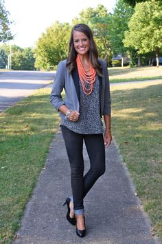 Minus the bright beads..too much! Love the rest of the outfit!