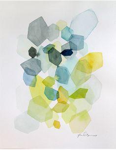 Hexagon in Green & Blue / Yao Cheng