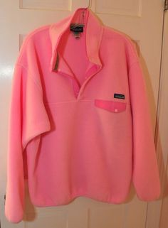 Womens-Fleece-Patagonia-SYNCHILLA-PINK-Pullover-sweater-size-Large-BEAUTIFUL 295e7482d92a