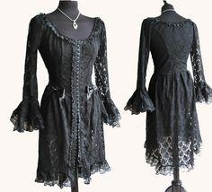 Dress Frances, Victorian , Steampunk, Historical, gothic, black lace, Somnia Romantica by Marjolein Turin