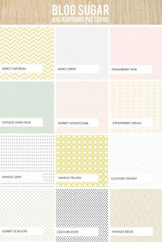 Cute blog background patterns & they also have lots of cute little design elements available