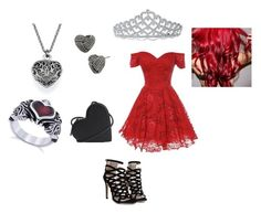"""""""Queen of Hearts"""" by talkabby ❤ liked on Polyvore featuring Christopher Kane, Betsey Johnson and Bling Jewelry"""