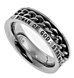 "Chain Ring – ""Woman Of God"" 
