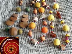 Jussakka Oda K:n kaulakoruja #huopaa, #poronsarvea # käsinvärjättyjä puuhelmiä # Necklaces https://www.facebook.com/pages/JUSSAKKA-Oda-K/173696896121402