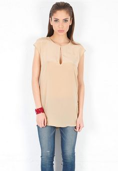 Rory Beca Piuma Keyhole Sleeveless Tunic in Sugar  $139