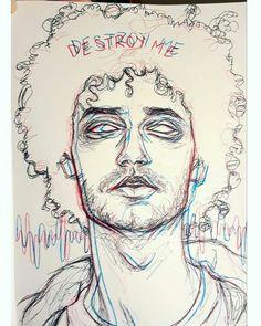 Heavy Metal Art, Music Tattoo Designs, Better Music, Art Portfolio, Reggae, Art Sketches, Pretty People, Sketching, Musicians