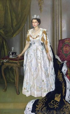 Queen Elizabeth II by Sir Herbert James Gunn (1893-1964)