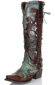 Double D Ranch by Lane Women's Cowboy Boots - Ammunition $790.00 **So expensive..but I want!!**