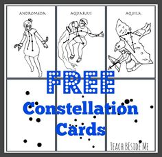 constellation cards for kids to learn the star patterns Free constellation printouts and good reading material for star lesson planFree constellation printouts and good reading material for star lesson plan 5th Grade Science, Elementary Science, Science Classroom, Teaching Science, Science For Kids, Earth Science, Science Activities, Science Projects, Teaching Kids