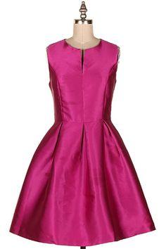 SATIN FIT N FLARE DRESS.  #3A-YD3033