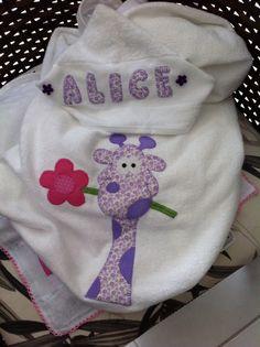 Toalha de banho com capuz para bebe