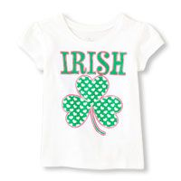 Irish shamrock graphic tee