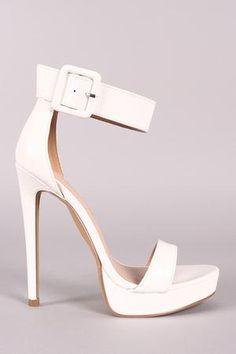 5ff5e4ebeba Shoe Republic LA Buckled Ankle Strap Stiletto Platform Heel - The Edgy Babe  Hot High Heels