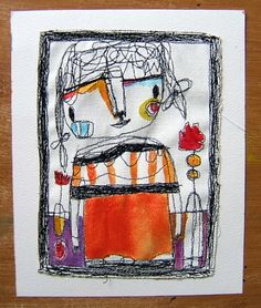 Itsy Bitsy Spill : Meet Sasha - Embroidery art