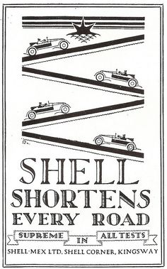 Shell petrol products, 1924