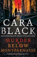 Johnna. Fiction. Book/LOTG. Murder Below Montparnasse by Cara Black.  Soloing the detective agency when her long-term partner leaves for a new job, Aimee is hired by a mysterious elderly Russian man to protect a valuable painting that is stolen before Aimee can start her work, a situation that is complicated by the client's murder and dangerous adversaries who also seek the painting.