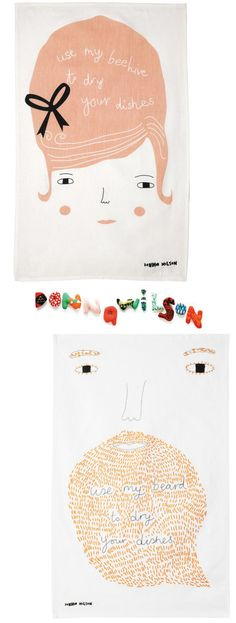 REALLY want these Donna Wilson tea towels