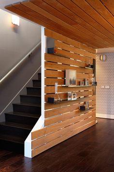 Modernwoodslatwall Modern White Oak Slat Wall Sealed With Boiled