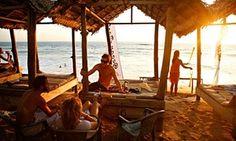 A beach bar in Hikkaduwa, Sri Lanka.