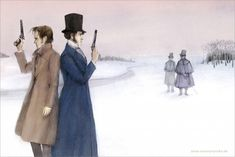 Image result for eugene onegin illustration