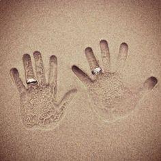 cute beach wedding picture idea