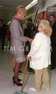 Tim Graham is also a photographer apparently... April 22, 1997: Diana, Princes of Wales visits St. Mary's Hospital for the Cosmic Charity on Behalf of the Pediatric Intensive Care Unit in Paddington, London.