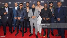 Chris Robinson, Jesse Collins, Bryshere Y. Gray, Woody McClain, Algee Smith, Keith Powere, Elijah Kelly Luke James and Stephen attend 'The New Edition Story' at The Paley Center for Media on December 14, 2016 in Beverly Hills, California.