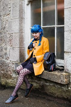 A Clothes Horse: Outfit: Not Coraline Love it all... except I do wish she hadn't dyed her gorgeous hair!