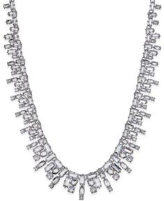 a6773aab1 kate spade new york Silver-Tone Crystal Statement Necklace & Reviews - Fashion  Jewelry - Jewelry & Watches - Macy's