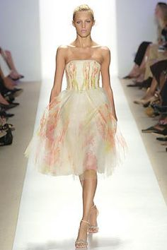 J. Mendel Spring 2005 Ready-to-Wear Fashion Show - Anja Rubik