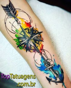 colored tattoo, colored tattoo men, wrist colored tattoo, wrist tattoo, colored tattoos for men - Tattoo Ideas Tattoos Masculinas, Arrow Tattoos, Trendy Tattoos, Finger Tattoos, Body Art Tattoos, Tattoos For Women, Tattoos For Guys, Tatoos, Wrist Tattoos For Men