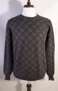 Vintage Mens Size XL Saks Fifth Avenue Designer Tricots St. Raphael Wool Sweater