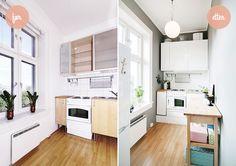 Ettroms på studentbudsjett: kjøkken før og etter