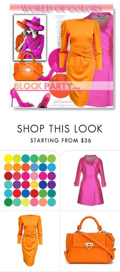 """""""Block Party..."""" by desert-belle ❤ liked on Polyvore featuring WALL, Ermanno Scervino, Lanvin, Salvatore Ferragamo, Manolo Blahnik, Urban Decay, polyvoreeditorial, ermanoscervino and dreamydresses"""
