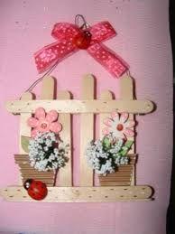 Resultado de imagen de regalo dia de la madre Ice Lolly Stick Crafts, Diy Popsicle Stick Crafts, Popsicle Sticks, Home Crafts, Diy And Crafts, Crafts For Kids, Easter Crafts, Christmas Crafts, Christmas Ornaments