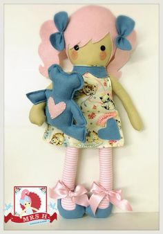Check out our baby & toddler toys selection for the very best in unique or custom, handmade pieces from our shops. Tiny Dolls, Soft Dolls, Dolls And Daydreams, How To Make Toys, Fabric Toys, Sewing Dolls, Doll Maker, Toddler Toys, Doll Patterns