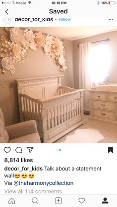 Furniture For Sale Black Friday Nursery Wall Decor, Baby Room Decor, Nursery Room, Girl Nursery, Girl Room, Nursery Ideas, Room Ideas, Baby Bedroom, Girls Bedroom