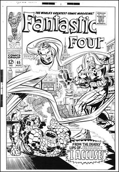 Fantasic Four #65 cover art by Jack Kirby and Joe Sinnot