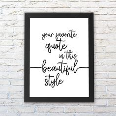 PERSONALIZED QUOTE PRINT, Custom Print, Custom Quote, Custom Wall Print, Custom Saying Wall Art, Custom Printable, Custom Wall Decor by Socialholic on Etsy Custom Gifts, Customized Gifts, Personalized Gifts, Unique Wedding Gifts, Unique Birthday Gifts, Sister Gifts, Best Friend Gifts, Gifts For Coworkers, Gifts For Mom