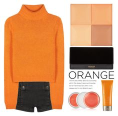 """""""Orange is new black"""" by sugar-queen-341 ❤ liked on Polyvore featuring beauty, Pierre Balmain, Acne Studios, Moroccanoil, Clinique, Balmain and Givenchy"""