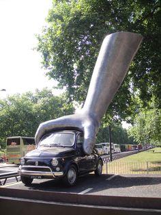 sculpture near Hyde Park  - London