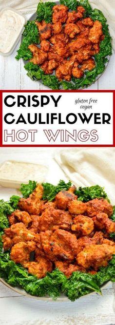 Crispy Cauliflower Hot Wings | Vegan Wings | Plant-based Recipes