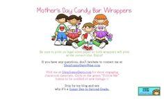 FREE Mother's Day Candy Bar Wrapper - SunnyDays - TeachersPayTeachers.com