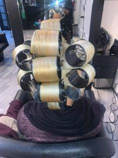 Hair Curlers Rollers, Wet Set, Roller Set, Hair Flip, Spa, Salons, Hair Beauty, Perms, Bobs