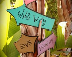 DR. SEUSS/Cat in the Hat...Whimsical directional SIGNS