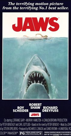 Jaws (1975) - first 'grown up' movie I ever saw. Had nightmares for months!