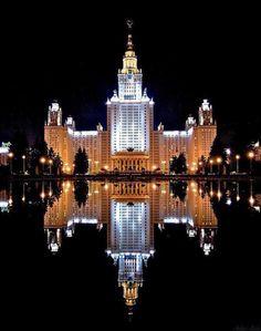 МГУ ночь Москва
