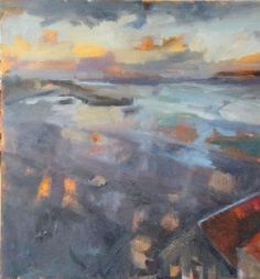 Artist: Harvey Rothschild Title: Twilight over St Ives Harbour I (HR193) Medium: Oil on board Size: 400mm x 400mm