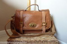 fossil bag. Full-grain leather, complementing accents. it's beautiful